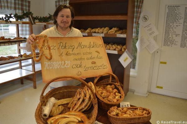 Bäcker József Rácz in Balatonkeresztür am Balaton in Ungarn,