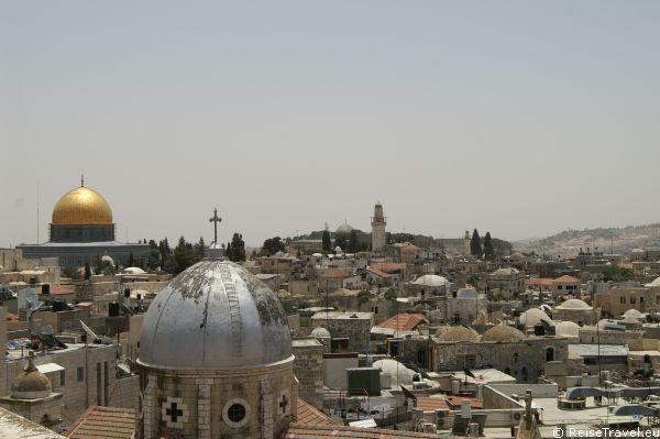 Tempelberg mit Felsendom ist eines der Wahrzeichen Jerusalems,